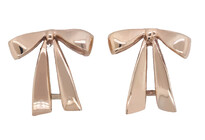 Bow earrings, Rose gold, Marc Bendall, Jewellers, Christchurch