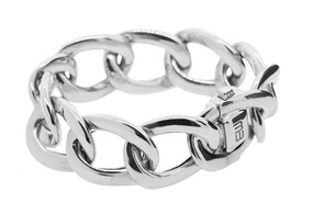 Oval Twist Sterling silver bracelet, Marc Bendall, Christchurch jewellers