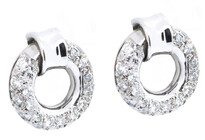18ct white gold, diamond earrings, Marc Bendall, Jewellers, Christchurch