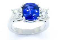 Sapphire diamond rings, Marc Bendall, Christchurch jewellers