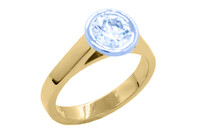 Soliaire Diamond Ring 18ct Yellow Gold Marc Bendall Engagement Rings Chch