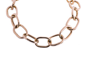 Oval large chain 9ct rose gold, Marc Bendall, jewellers, Christchurch