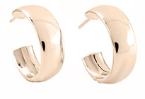 MBE-120 9ct rose gold wide hoop earrings (also available in clip)