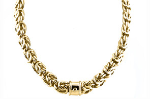 Regal gold neckpiece,Marc Bendall, jewellers, Christchurch
