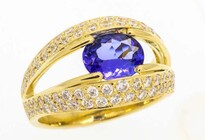 Oval Tanzanite diamond rings, Marc Bendall, engagement rings, Christchurch
